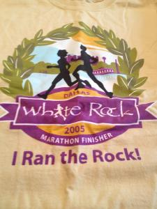 Dallas White Rock Marathon Race Shirt