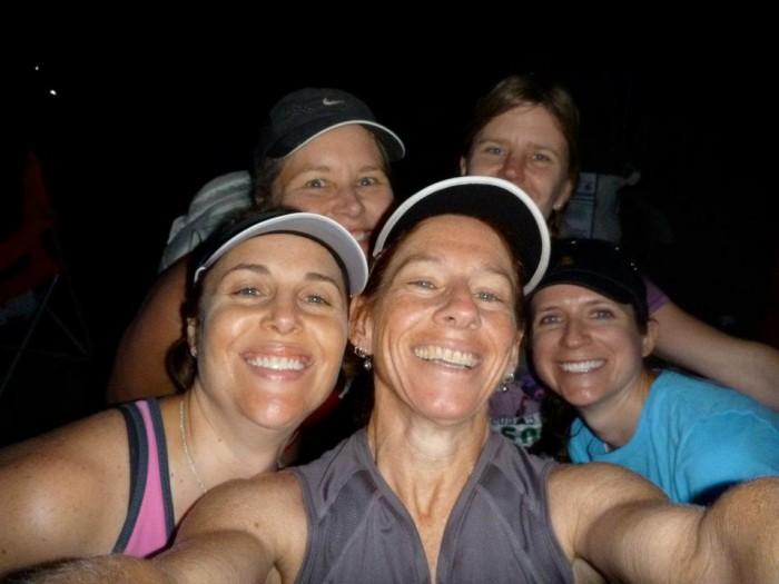 Group of girl runners at the start of the Hell's Hills trail race in 2012