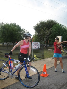 If I'd listened to my inner harpy, I'd never have taken on a triathlon. This photo is of one of my first; I'm sure if you'd told me that day I'd  complete an Ironman in the future, I'd have laughed.