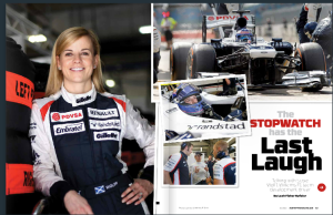 Motorsport coverage is tons of fun, and Williams F1 Team driver Susie Wolfe was charming, witty, and all business.