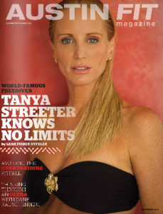 Magazine cover featuring freediver Tanya Streeter