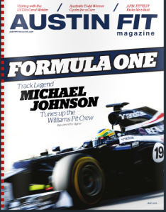 Magazine cover with Formula One racing car