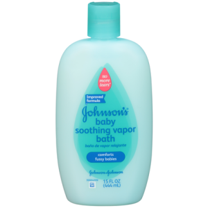 Bottle of Johnson's Baby Soothing Vapor Bath