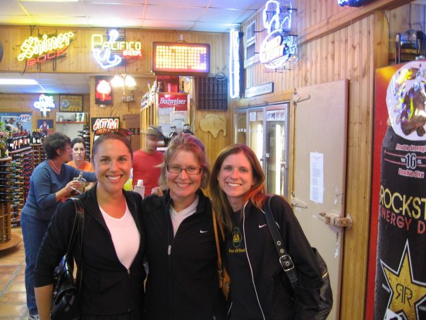 Marcia, Leah, and Stephanie before the Palo Duro Trail Run