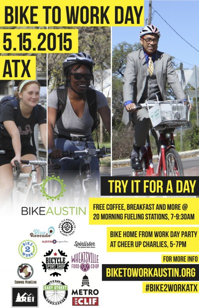 Poster for Bike to Work Day Austin 2015