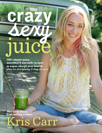 Cover of book called Crazy Sexy Juice by Kris Carr