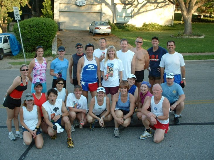 Group of runners before a workout