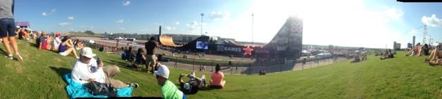 Panoramic view of X Games Austin Big Air venue