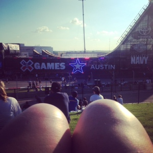 View of the Big Air Ramp at X Games Austin 2015