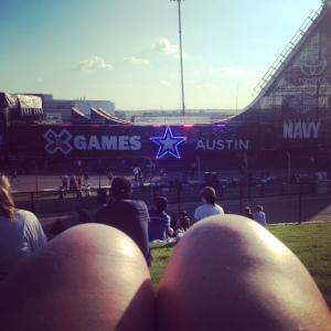 View of the Big Air Ramp at X Games Austin 2015