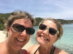 My friend Holly, left, and I know how to thoroughly enjoy a beautiful beach.