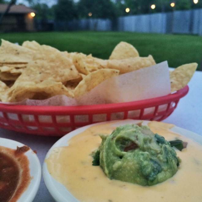 Queso with guacamole from La Fuentes