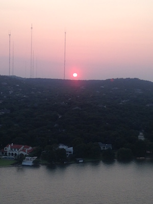 Sunset seen from Austin's Mt. Bonnell