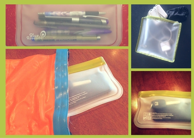 Collage of uses for BlueAvocado resealable bags.