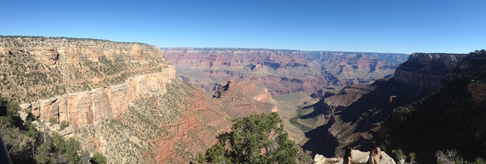 Photo of the Grand Canyon view from the south rim.