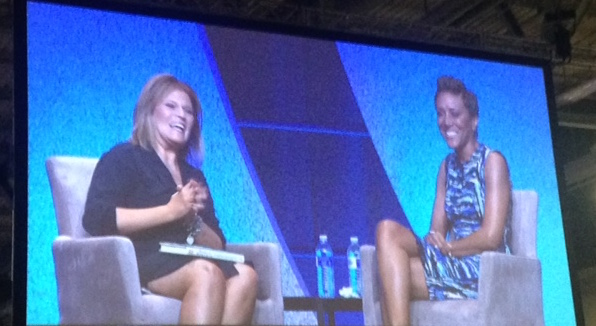 Tory Johnson interviews Robin Roberts at Texas Conference for Women