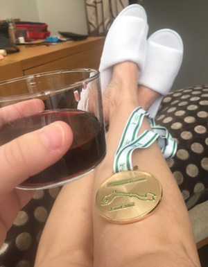 Paris medal and wine