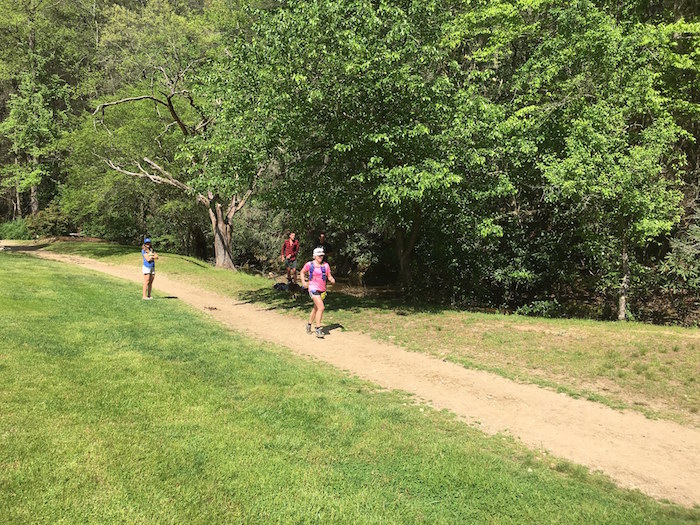 Claire Secker finishes the 2016 Leatherwood Ultra 50K.
