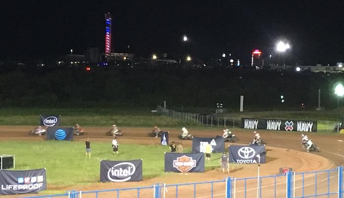 Night finals of Harley-Davidson Flat-Track Racing at X Games Austin 2016.
