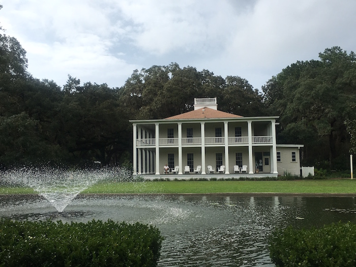 Historic mansion at Eden Gardens State Park in Florida.