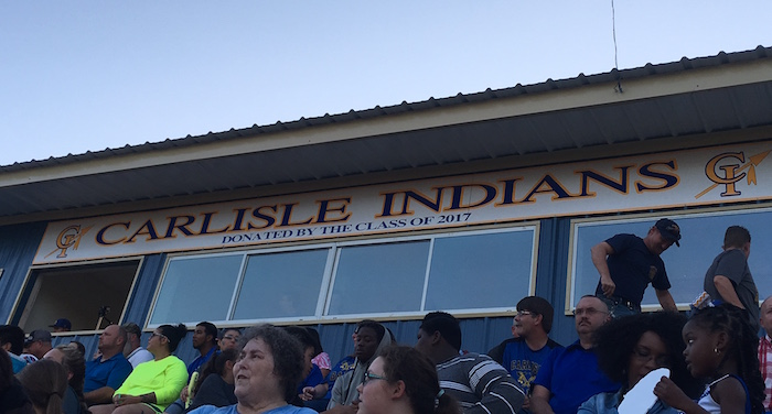 High school football fans at Carlisle ISD in Texas.
