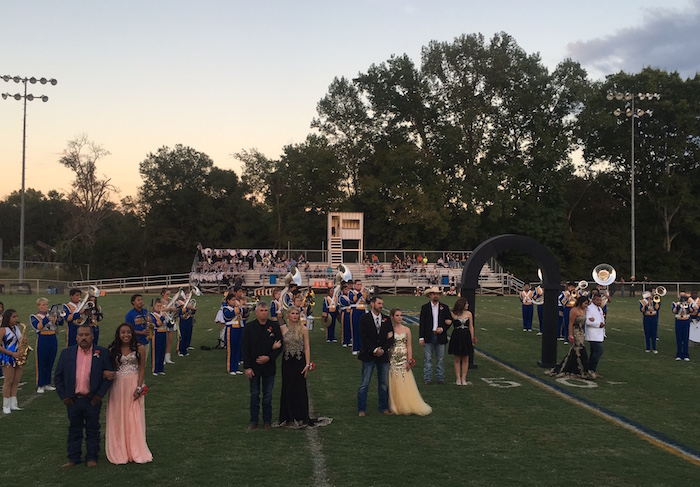 Carlisle ISD homecoming court presentation at 2016 homecoming.