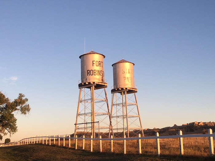 Water towers in Ft. Robinson State Park in Crawford, NE.