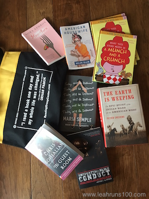Book tote and books from 2016 Texas Book Festival