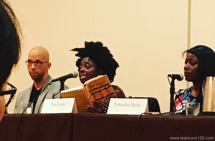 Authors Yaa Gyassi and Natasha Deon at 2016 Texas Book Festival