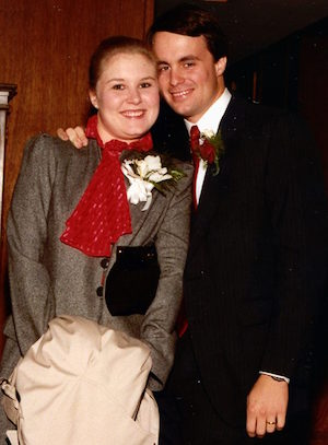Leah and James Nyfeler leaving wedding reception in 1983