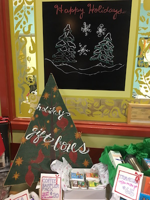 Holiday display at Zingerman's Coffee Company