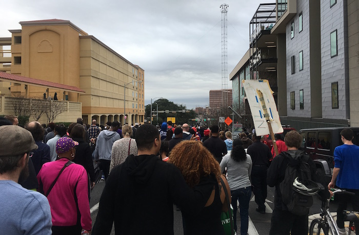 Marchers in Austin's MLK Day remembrance
