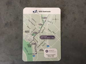 Route card with map of downtown Dallas by Athletic-Minded Traveler for Hyatt Regency Dallas
