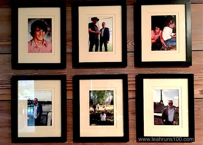 Six photos in a grid that honor the birthday person in our family.