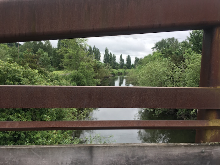 View from the bridge on the way to Woodinville from Redmond, Washington, on the Sammamish River Trail.