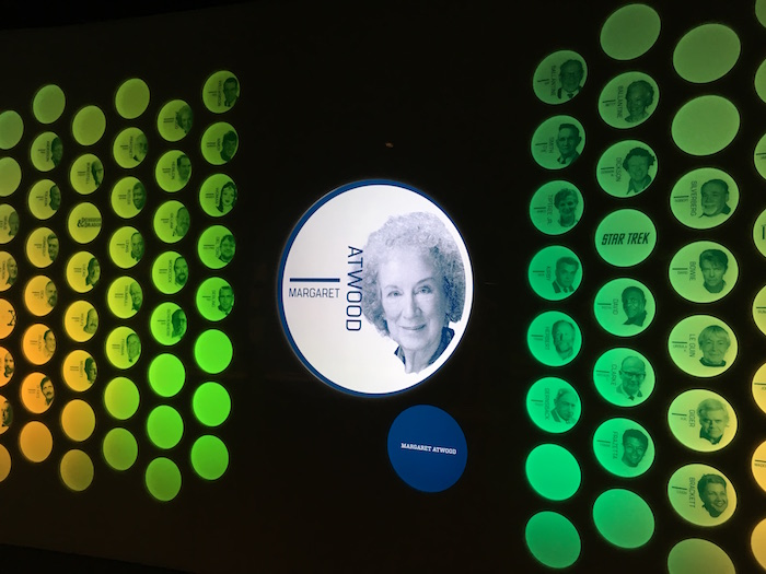 Margaret Atwood featured on Science Fiction Hall of Fame wall in Seattle's Museum of Pop Culture
