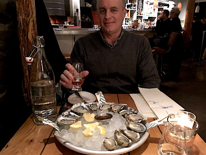 Plate of raw oysters at Seattle's Westward restaurant.